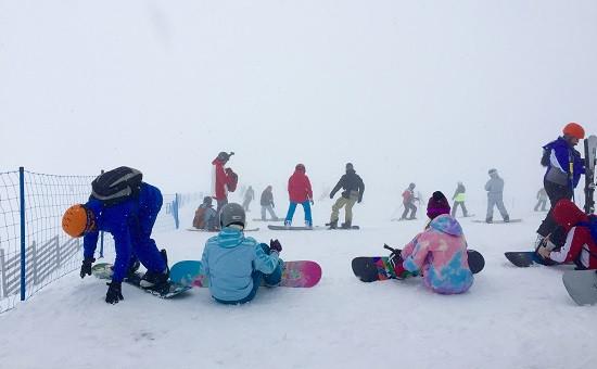 На одном из горнолыжных курортов Красной Поляны