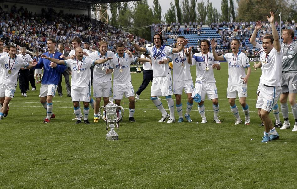16 мая 2010. «Зенит» после победы в Кубке России