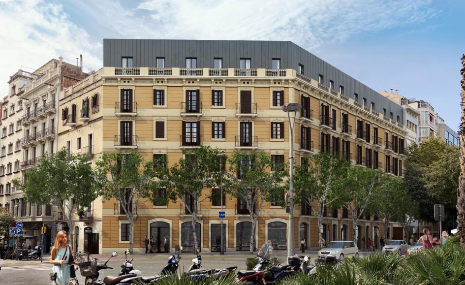 Этот жилой дом расположен в самом респектабельном районе Барселоны— L'Eixample. Точечная застройка, проект выполнен с сохранением старинного фасада здания. Объект находится в фазе заливки фундамента и подвода коммуникаций. Сдача объекта планируется через несколько лет