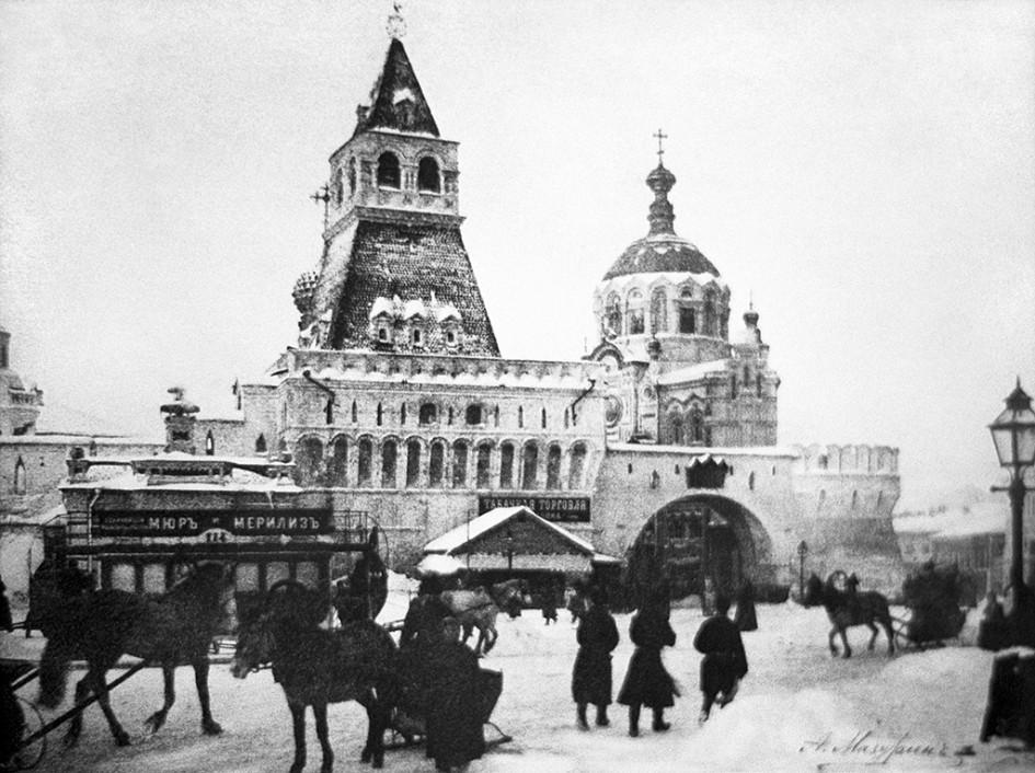Владимирские ворота Китай-города на Лубянской площади,1901 год