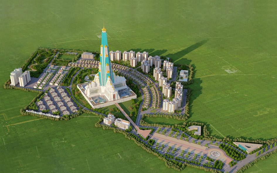 Храм «Вриндаван Чандродая Мандир» станет самым высоким религиозным сооружением вмире