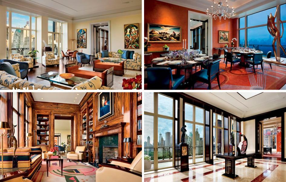 Интерьеры пентхаусы в небоскребе 15 Central Park West