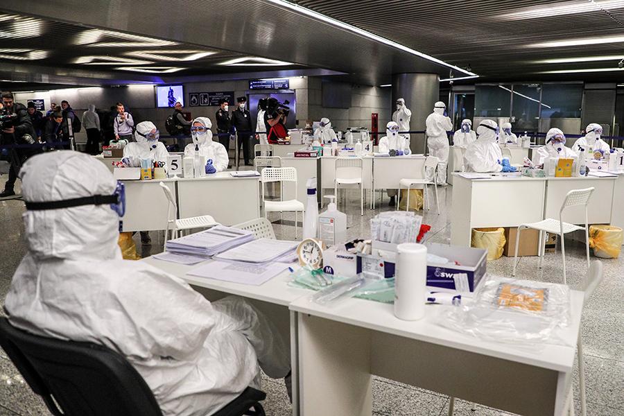 Комплексные меры по профилактике распространения коронавируса на территории РФ в аэропорту Внуково