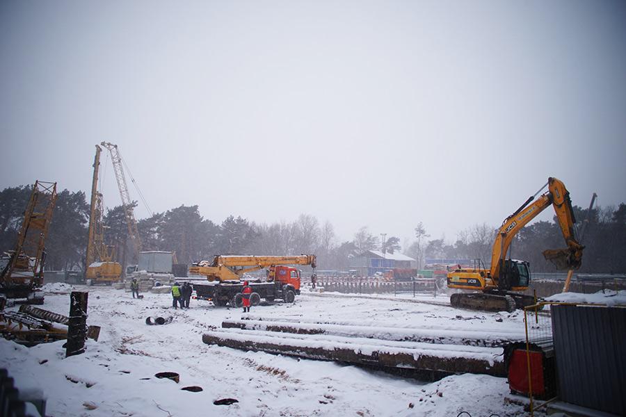 Строительство наулице Живописной