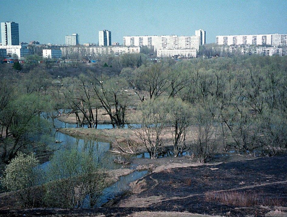 Вид на реку Сетунь. 1999 год
