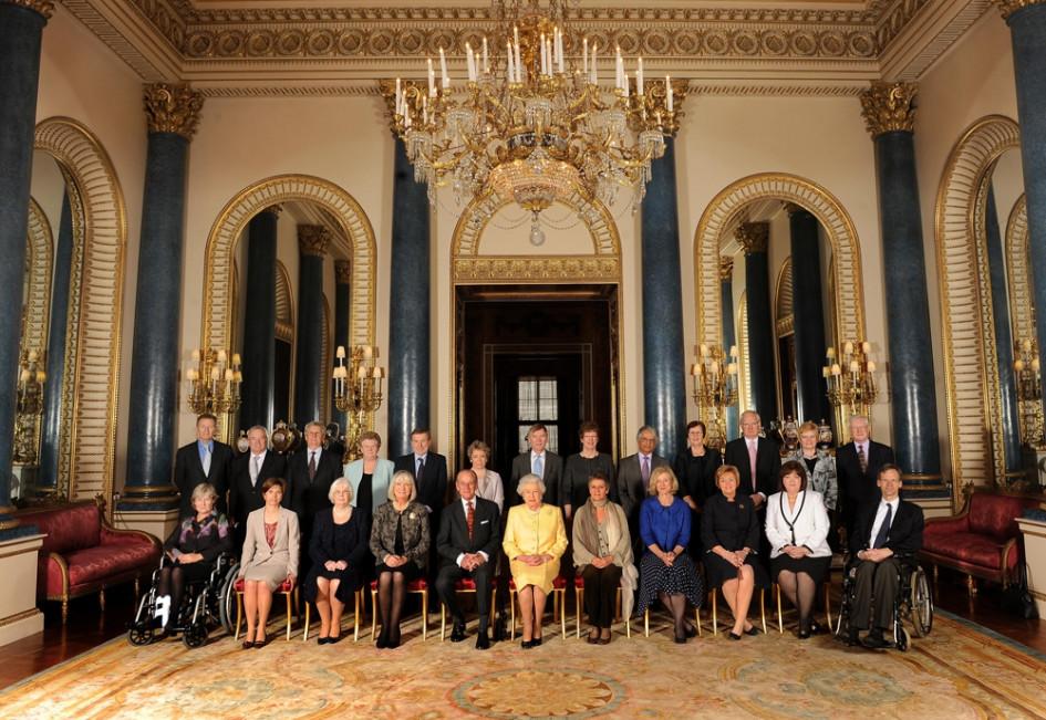 Интерьеры в Букингемском дворце