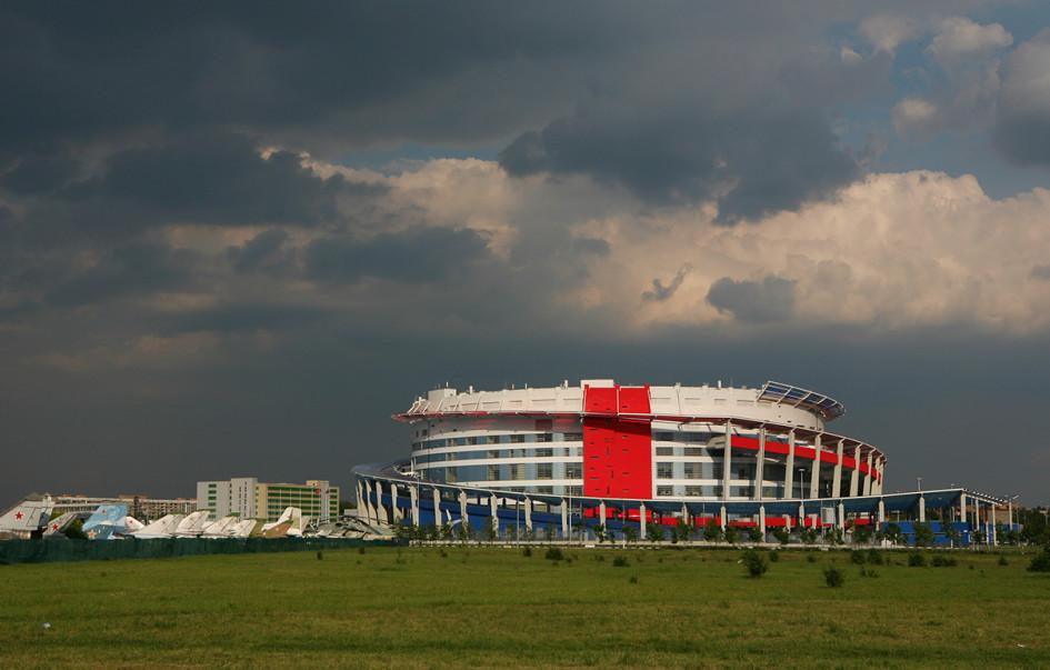 Ледовый дворец «Мегаспорт» на Ходынском поле