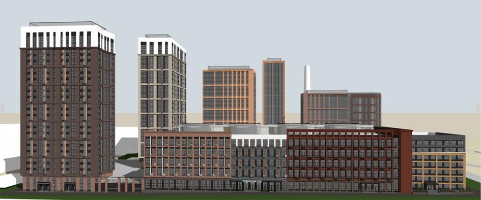 Проектный вид квартала