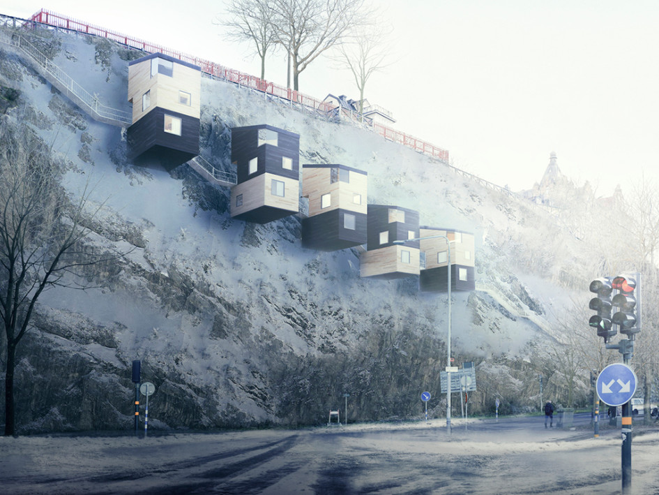 Проектный вид подвесного квартала