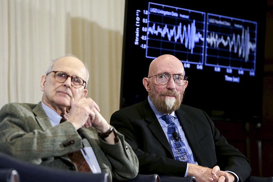 Райнер Вайс и Кип Торн (слева направо)
