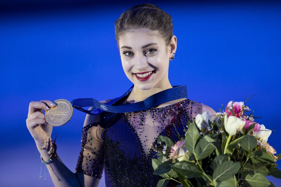 25 января 2020 г., Грац. Алена Косторная с золотой медалью чемпиона Европы