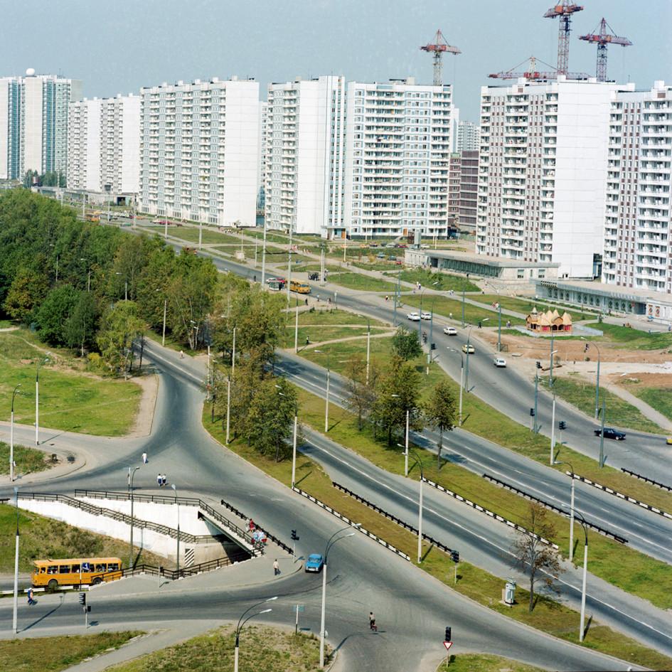 Рублевское шоссе и новый район Крылатское. 1987 год