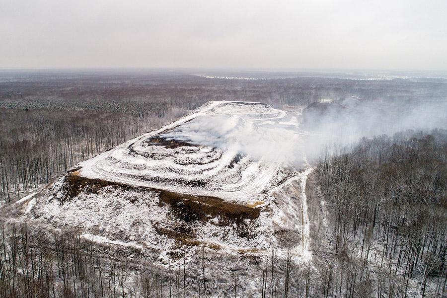 Мусорный полигон в Московской области
