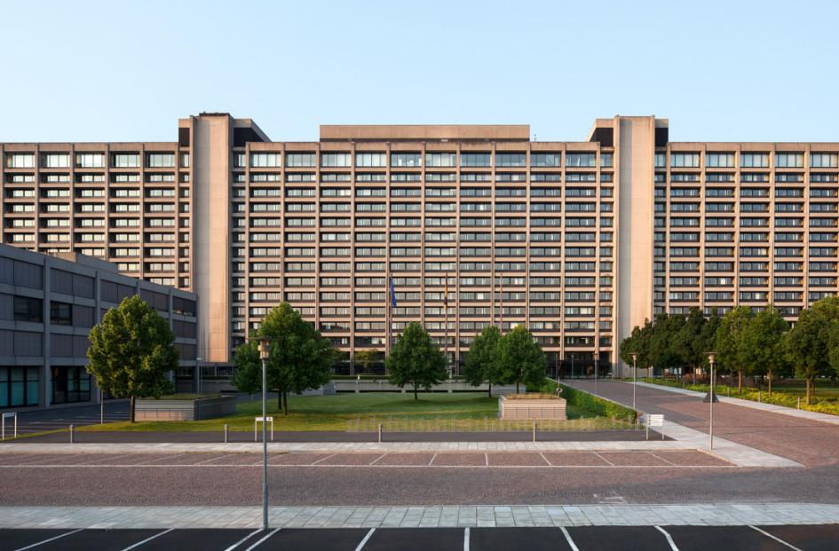 Главное здание Бундесбанка во Франкфурте-на-Майне, Германия