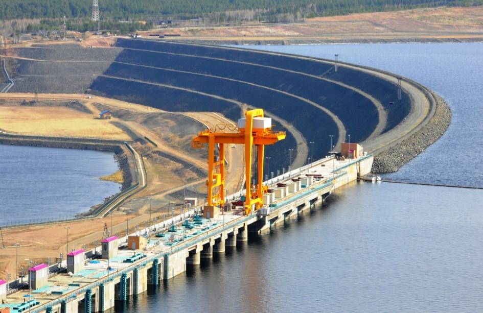Богучанская ГЭС, входящая в «РусГидро»
