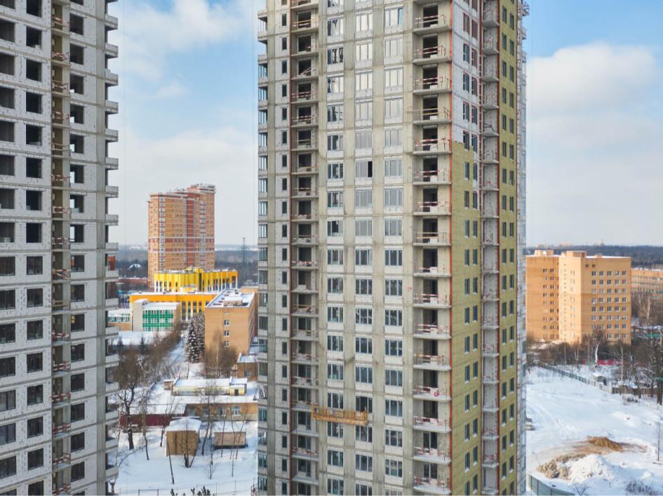 ЖК «Одинград». Фото стройки на февраль 2021 года
