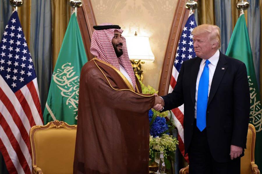Мохаммед ибн Салман Аль-Сауд и Дональд Трамп