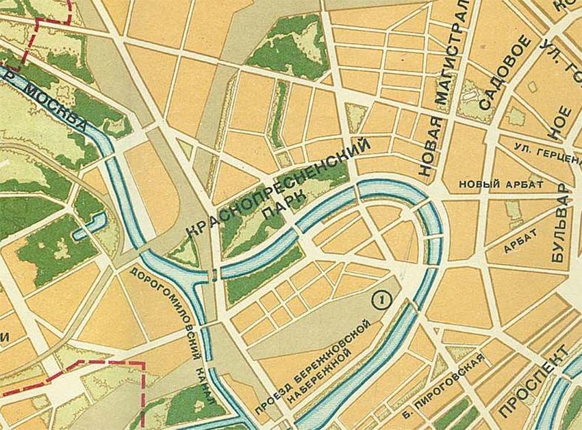 Проект планировки района начала 1990-х гг.