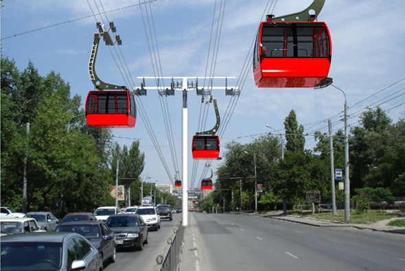 Проект канатного метро в Ростове-на-Дону.