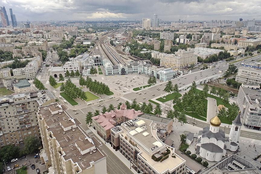Площадь Белорусского вокзала благоустроят за 925 млн руб ...