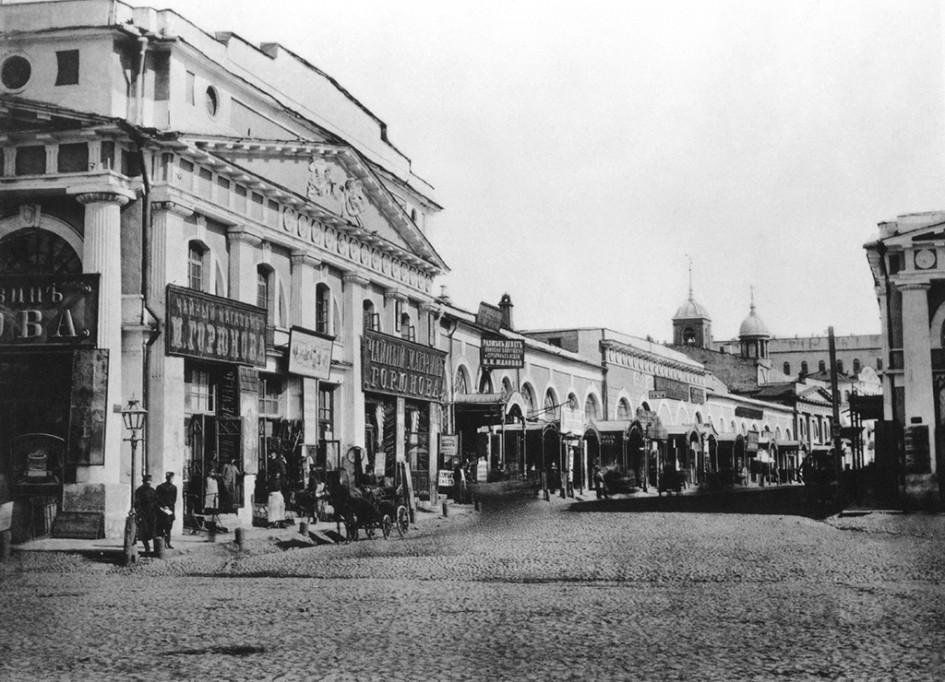 Вид на площадь Красных ворот, конец XIX века