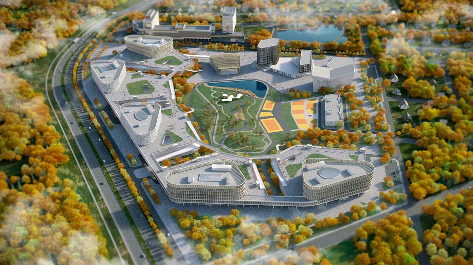 Проект планировки IT-кластера в Екатеринбурге