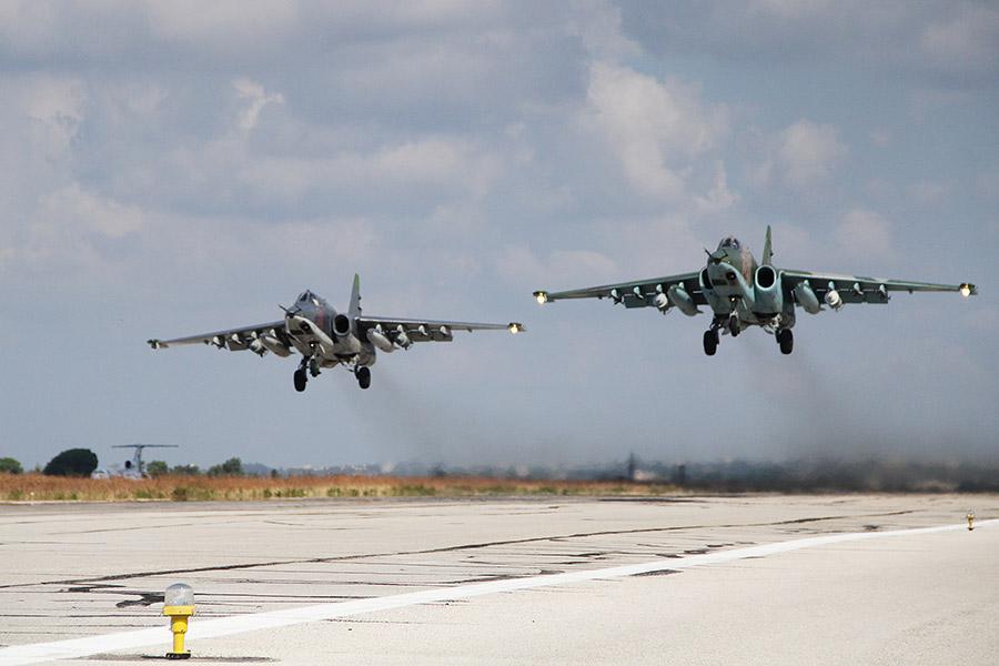 Штурмовики Су-25 ВКС России в Сирии