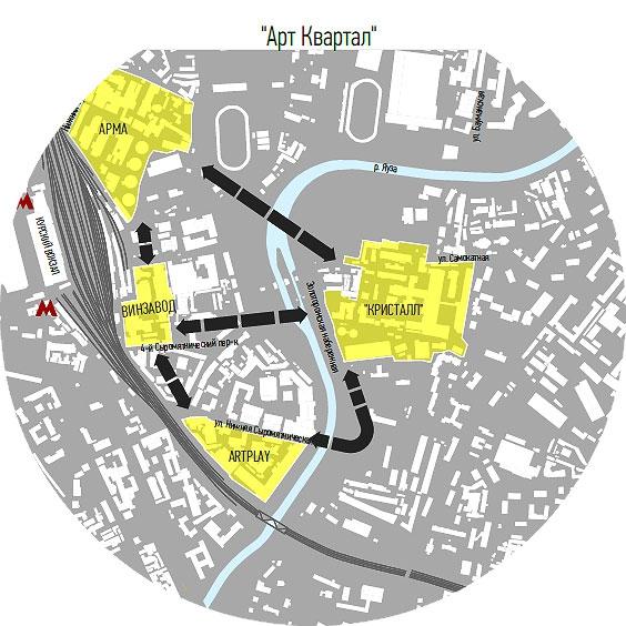 Карта будущего арт-квартала