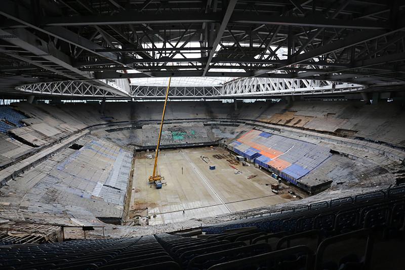 На стадионе «Зенит Арена», июль 2016 года
