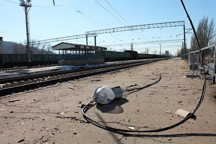 Платформа железнодорожного вокзала вГорловке