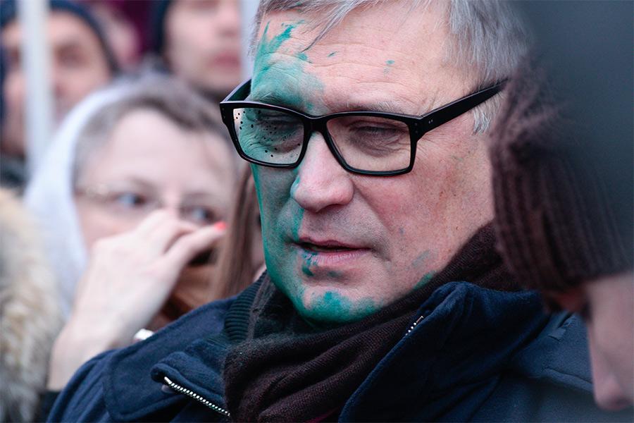 Михаил Касьянов на марше памяти Бориса Немцова