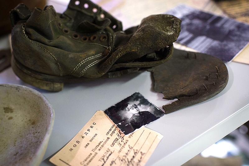 Экспонаты Государственного музея истории ГУЛАГа в Москве