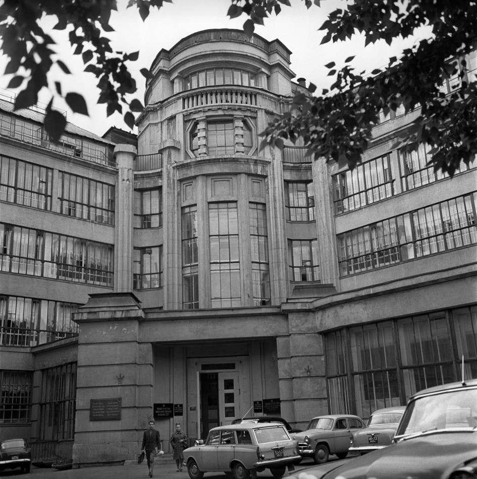 Здание мастерских в мае 1968 года