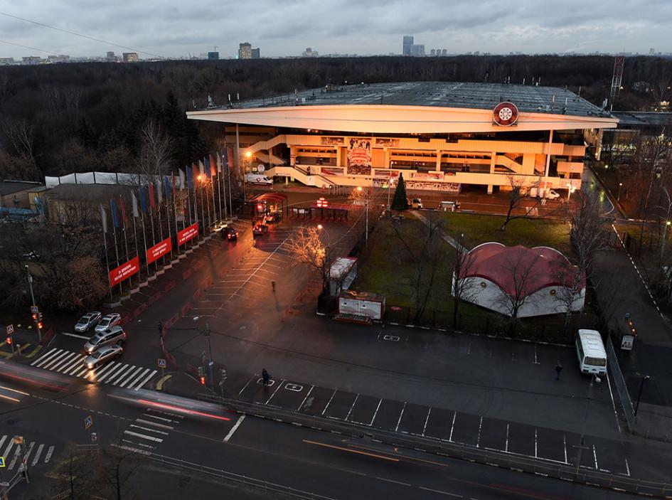 Хоккейная арена «Сокольники» внаши дни