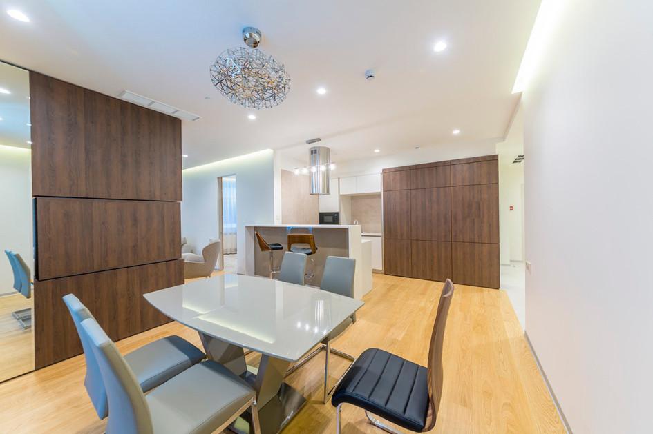 Пример интерьера апартаментов в МФК «Звезды Арбата»