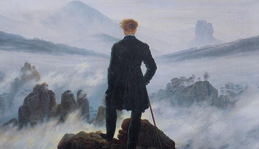 Каспар Давид Фридрих. Странник над морем тумана. 1818 г.