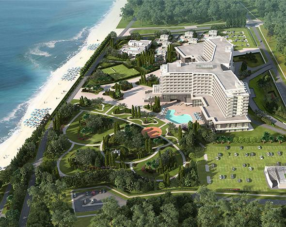 Фото: Radisson Blu Paradise Resort & Spa с высоты птичьего полета