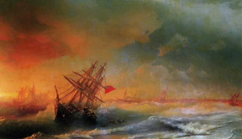 «Буря над Евпаторией», И. Айвазовский