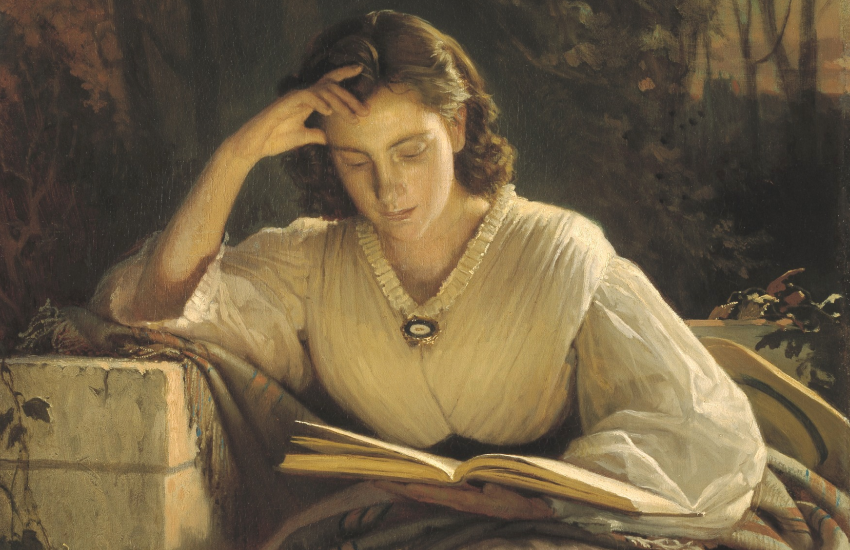 «За чтением. Портрет Софьи Николаевны Крамской», Иван Крамской