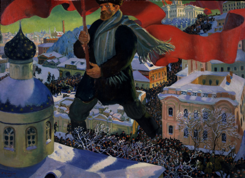 БорисКустодиев. «Большевик», 1920