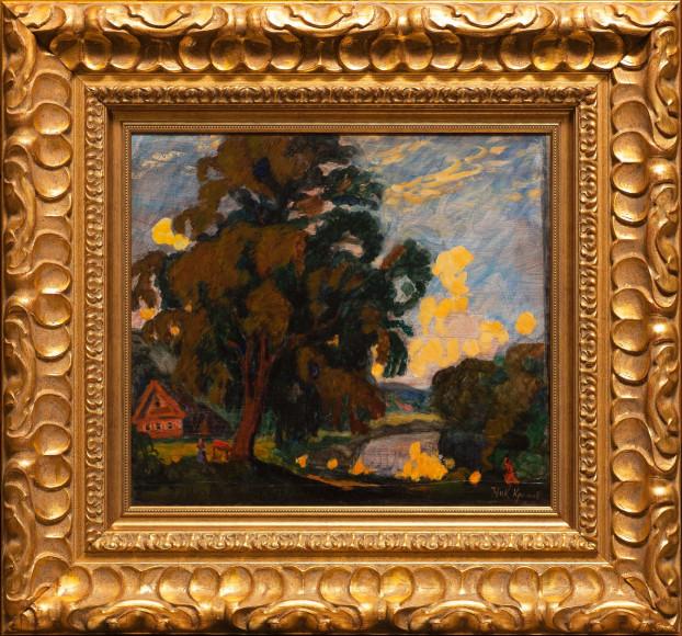 Николай Крымов, «Летний пейзаж с озером», 1906