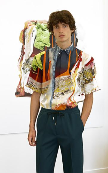 Работа Брайна Рошфора в мужской коллекции Berluti, весна-лето 2021