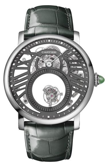 Часы Rotonde de Cartier Skeleton Mysterious Double Tourbillon, Cartier