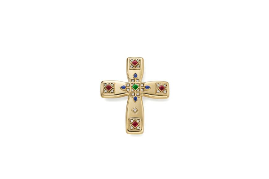"""Брошь """"Византийский крест"""",Cartier, ок. 1993"""