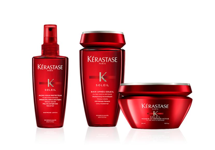 Линия Soleil для волос, подверженных воздействию солнца,хлорированной и морской воды,Kérastase