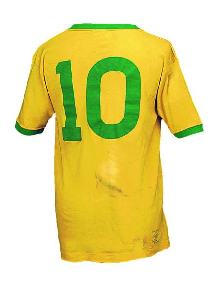 Футболка Пеле номер «10» из финального этапа Кубка мира 1970 года