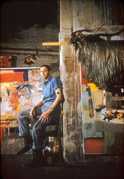 Роберт Раушенберг в Pearl Street studio, 1955