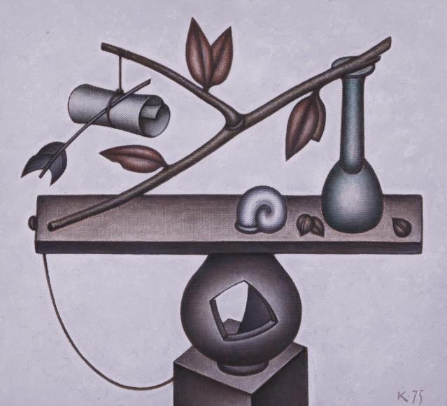 Дмитрий Краснопевцев. Равновесие. Холст/масло, 1975 г.