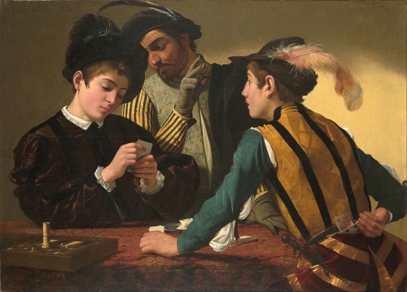 Караваджо. «Шулеры», 1594
