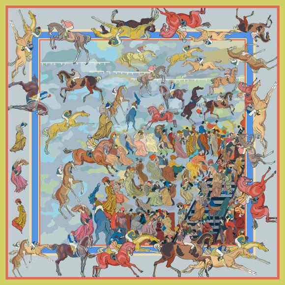 «Скачки» Георгия Якулова на платке Radical Chic